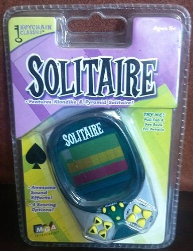 Keychain Classics - Solitaire Keychain (Features Klondike & Pyramid Solitaire) (Game Keychain Sudoku)