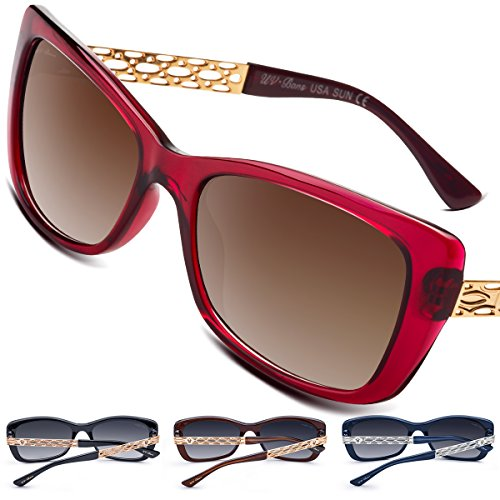 sses Rectangle Fashion Ladies Polarized UV400 TAC Lenses ()