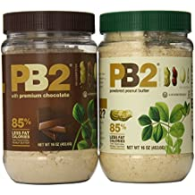 Bell Plantation PB2 Powdered Peanut Butter and PB2 with Premium Chocolate, 16 Ounce (Pack of 2)