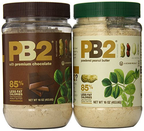 Bell Plantation PB2 Powdered Peanut Butter and PB2 with Premium Chocolate, 32 Ounce (Pack of 2)