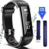 Wesoo Fitness Tracker, Fitness Watch Include Replacement Band, Activity Tracker Smart Band with Sleep Monitor, Smart Bracelet Pedometer Wristband for Kids, Women and Men-(Black+Blue Band)