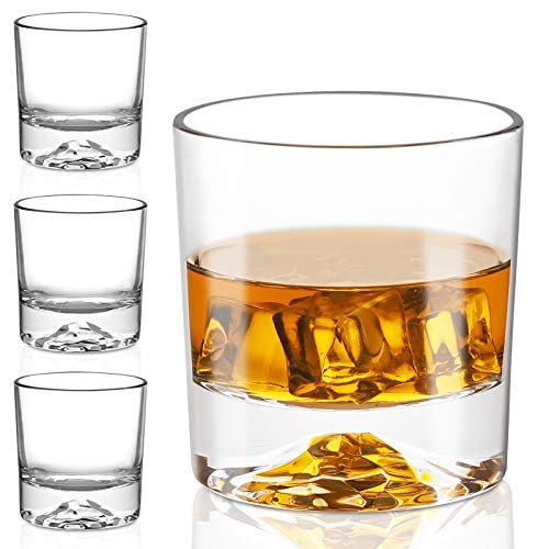 Whiskey Glasses – Premium 10 Ounce Scotch Glasses Set of 6 /Old Fashioned Whiskey Glasses/Style Glassware for Bourbon…
