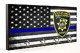 Thin Blue Line State of Hawaii Sheriff Key Hanger