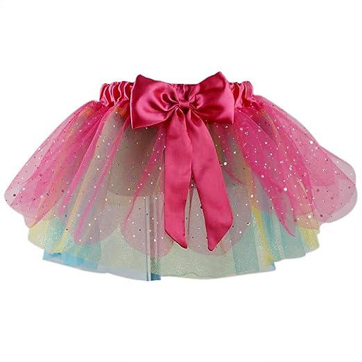 Falda de tul de análisis, arcoíris, de princesa, multicapa, para ...