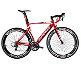 EUROBIKE EURXC7000 Road Bike 54CM Light Aluminum Frame 16 Speed 700C Road Bicycle Red Review