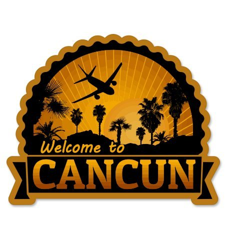 Welcome to Cancun Vinyl Sticker - Car Phone Helmet - SELECT SIZE