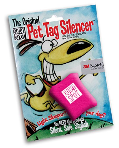 Pink Dog Tag Silencers - Quiet Spot Pet Tag Silencer (Pink)