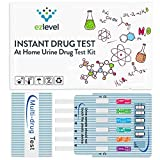 10 Pack EZ Level 5 Panel Drug Test Kit Marijuana (THC) Cocaine (COC) Opiate (OPI) Amphetamine (AMP) Ecstasy (MDMA)