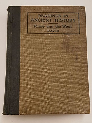 Rome and the West (Readings in ancient history), Davis, William Stearns