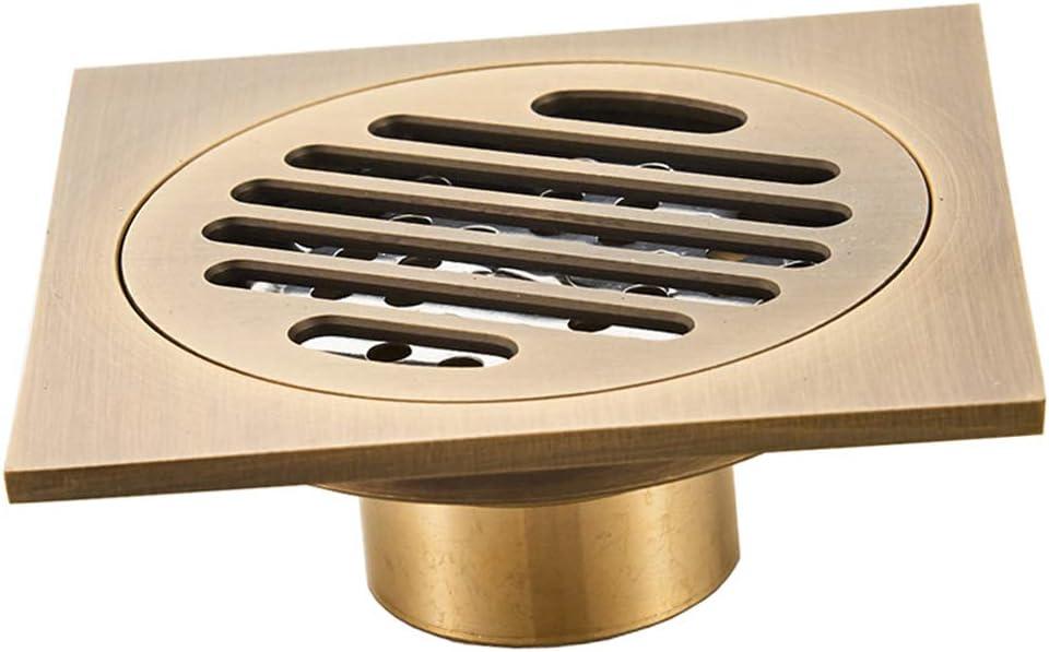 D DOLITY Vintage latón – Canaleta para desagüe de Ducha Ducha desagüe para Plano para Cuarto de baño: Amazon.es: Hogar