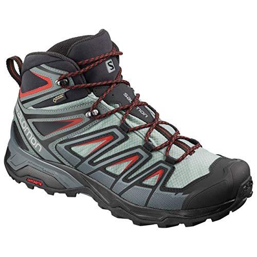 Salomon Men's X Ultra 3 MID GTX Hiking Shoe, Lead/Stormy Weather/Bossa Nova