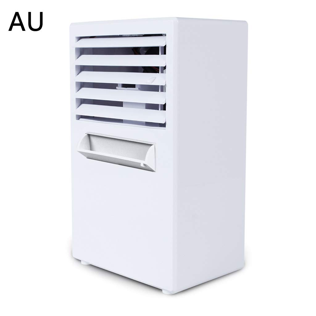 Wqingng Mini Portable Air Conditioner Fan Silent Water Cooling Fan Noiseless Evaporative Air Humidifier Steaming Face for Room Office by Wqingng