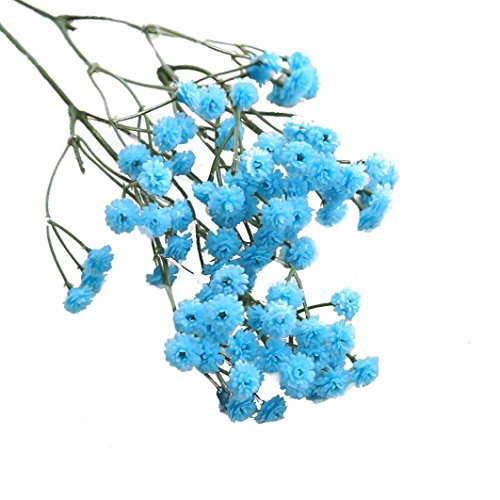 Hot Sale!!! Artificial Silk Fake Flowers,Jushye Gypsophila Baby's Breath Floral Wedding Bouquet Party Wedding DIY Decors (Blue)