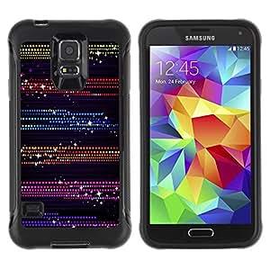 LASTONE PHONE CASE / Suave Silicona Caso Carcasa de Caucho Funda para Samsung Galaxy S5 SM-G900 / Dots Glitter Purple Black