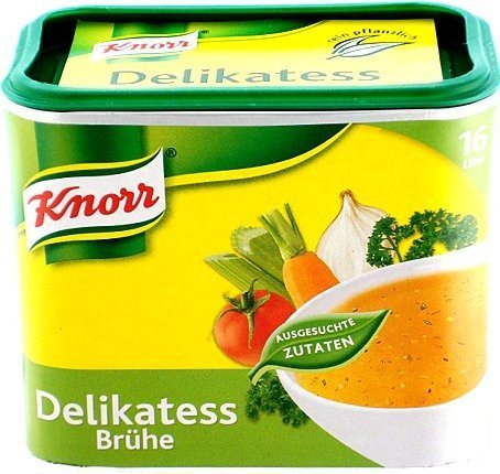 - Knorr Instant Clear Broth ( Delikatess Bruehe ) for 16 Liter