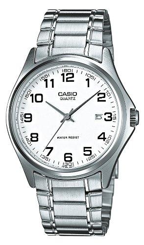 Casio MTP-1183A-7BEF - Reloj analógico de cuarzo para hombre con correa de acero inoxidable, color plateado: Amazon.es: Relojes