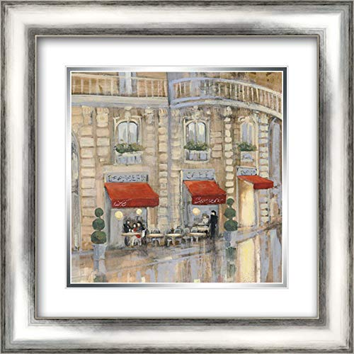 - Touring Paris Couple II 20x20 Silver Contemporary Wood Framed and Double Matted Art Print by Purinton, Julia