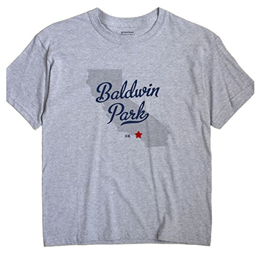 Baldwin Park California CA MAP GreatCitees Unisex Souvenir T Shirt