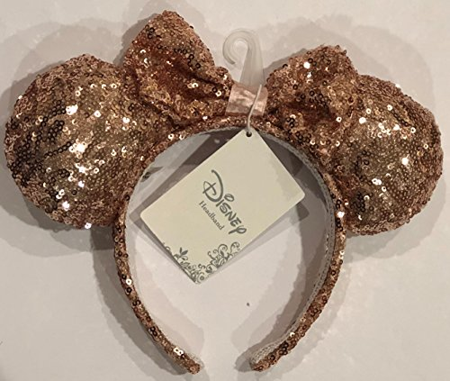 Minnie Rose Gold Glitter Ears Disney Headband Store Exclusive Authentic Merchandise