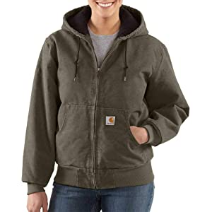 2f90e9d6f5f Amazon.com: Carhartt Women's Camden Solid Parka,Black Heather ...