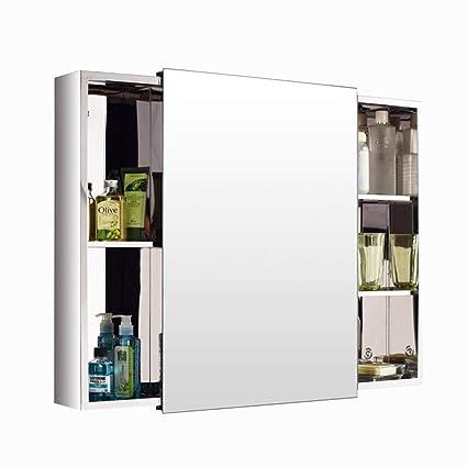 Armarios con espejo para baño Acero Inoxidable Puerta ...