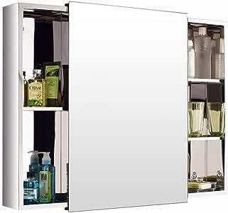Armarios con espejo para baño Acero Inoxidable Puerta corredera ...