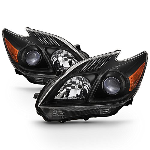 ACANII - For Upgrade Black 2010-2011 Toyota Prius Halogen Headlights Headlamps Driver + Passenger Side ()