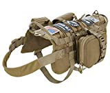 VIVOI Tactical Military Molle Dog Vest Adjustable Training Service Harness with Detachable Pouches