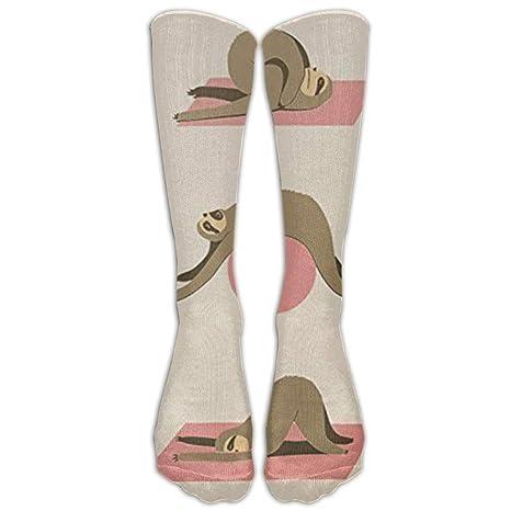 KLYDH Sloth Yoga Art PrintCompression Socks For Women and ...