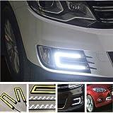 Delhitraderss -2X Car U Shape COB Led Daytime Running Driving Lights Lamp DRL Light for - Hyundai Creta