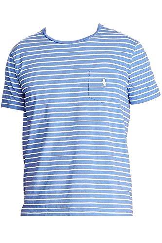 Polo Ralph Lauren Men's Striped Pocket T-Shirt (Liberty/White, - Ralph Cyber Lauren Monday