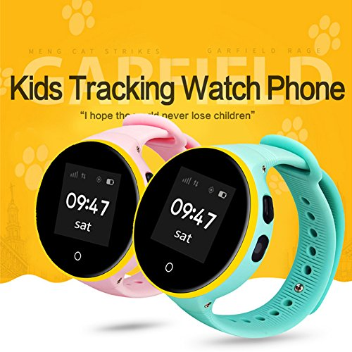 Etbotu GPS Tracker Smart Watch, 1.22'' IPS Square Screen, Children Wristwatch for IOS & Android by Etbotu (Image #4)