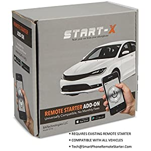 Start-X 2.0 Remote Starter Add On Module – Car System To Control Remote Starter Via Smart Phone Device – Keyless Starter Activator With App – No Monthly Fee