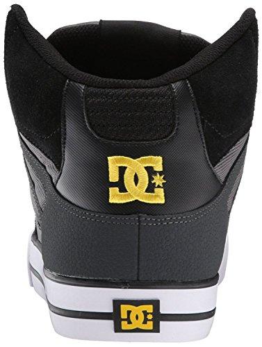 DC Spartan Hi WC Negro Amarillo Hombres Suede Skate Sneakers Botas