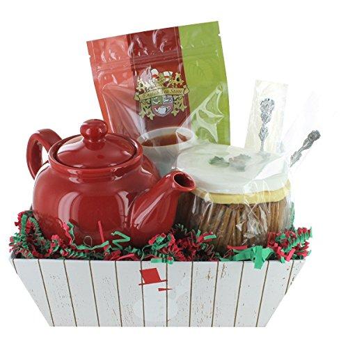 Christmas Cake & Tea Gift Basket