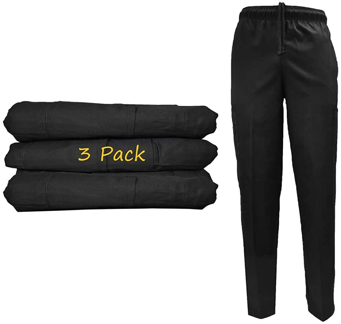 Natural Uniforms Classic 6 Pocket Chef Pants with Multi-Pack QTYS Available
