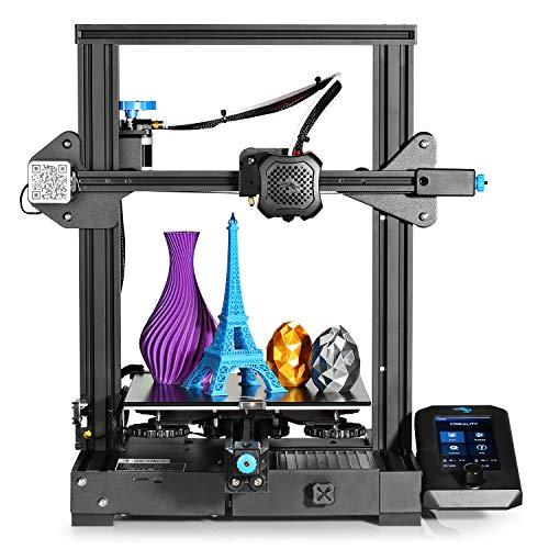 Offical Ender 3 V2 3D Printer Upgraded Creality Ender 3 V2 with Carborundum Glass Platform Silent Motherboard and…
