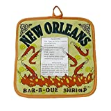 New Orleans BBQ Shrimp Recipe Pot Holder
