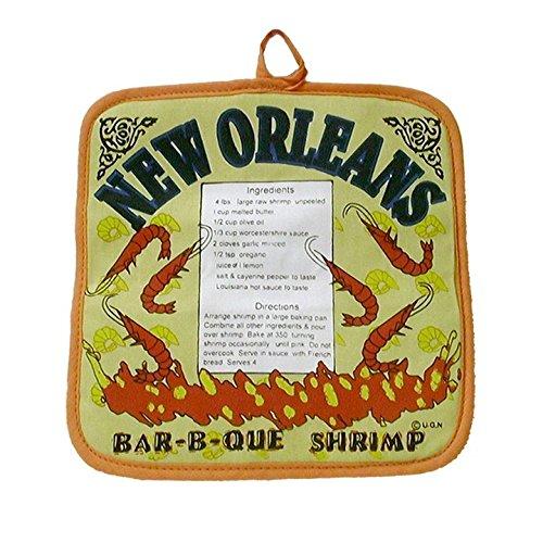 New Orleans BBQ Shrimp Recipe Pot Holder by Cajun Creations