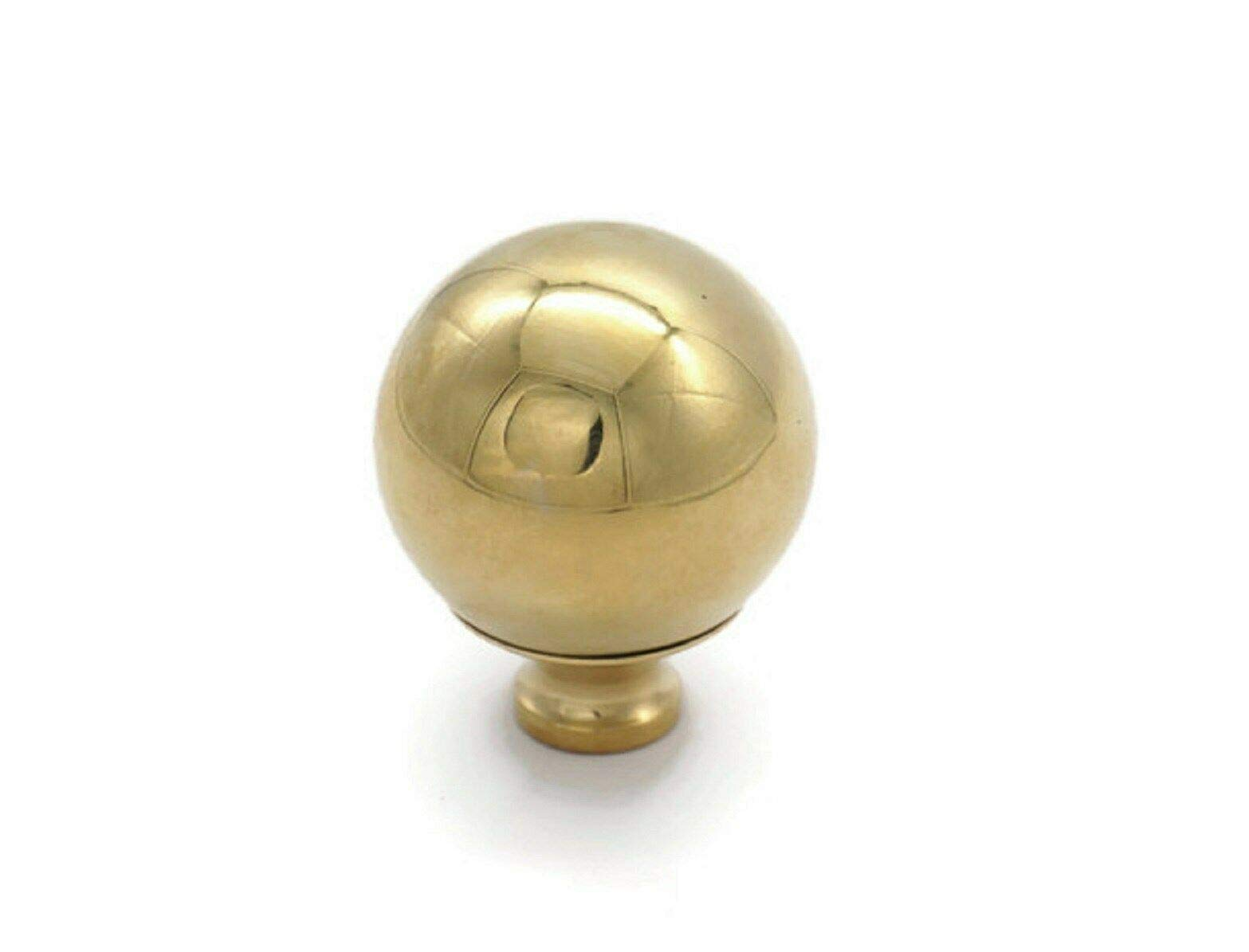 RX-789 Brass Bed Finial Cannon Ball Bed Frame 2'' Diameter X 2 1/2'' High, 3/8'' Thread