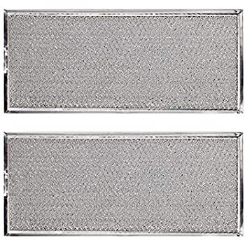 KONDUONE 2-Pack of W10208631A Filter for Whirlpool Microwave Oven Grease Filter Approx. 13