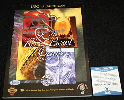 Matt Leinart signed 90th Rose Bowl Program, USC Trojans, Beckett BAS - Beckett Authentication - Autographed College Magazines
