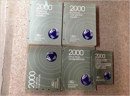 2000 ford econoline e150 250 350 e-series van service manual set oem diesel  lots: ford: amazon com: books
