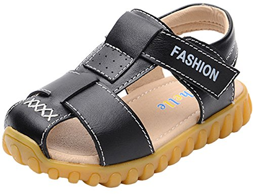 ppxid-boys-girls-magic-tape-closed-toe-outdoor-casual-sandal-black-12-us-size