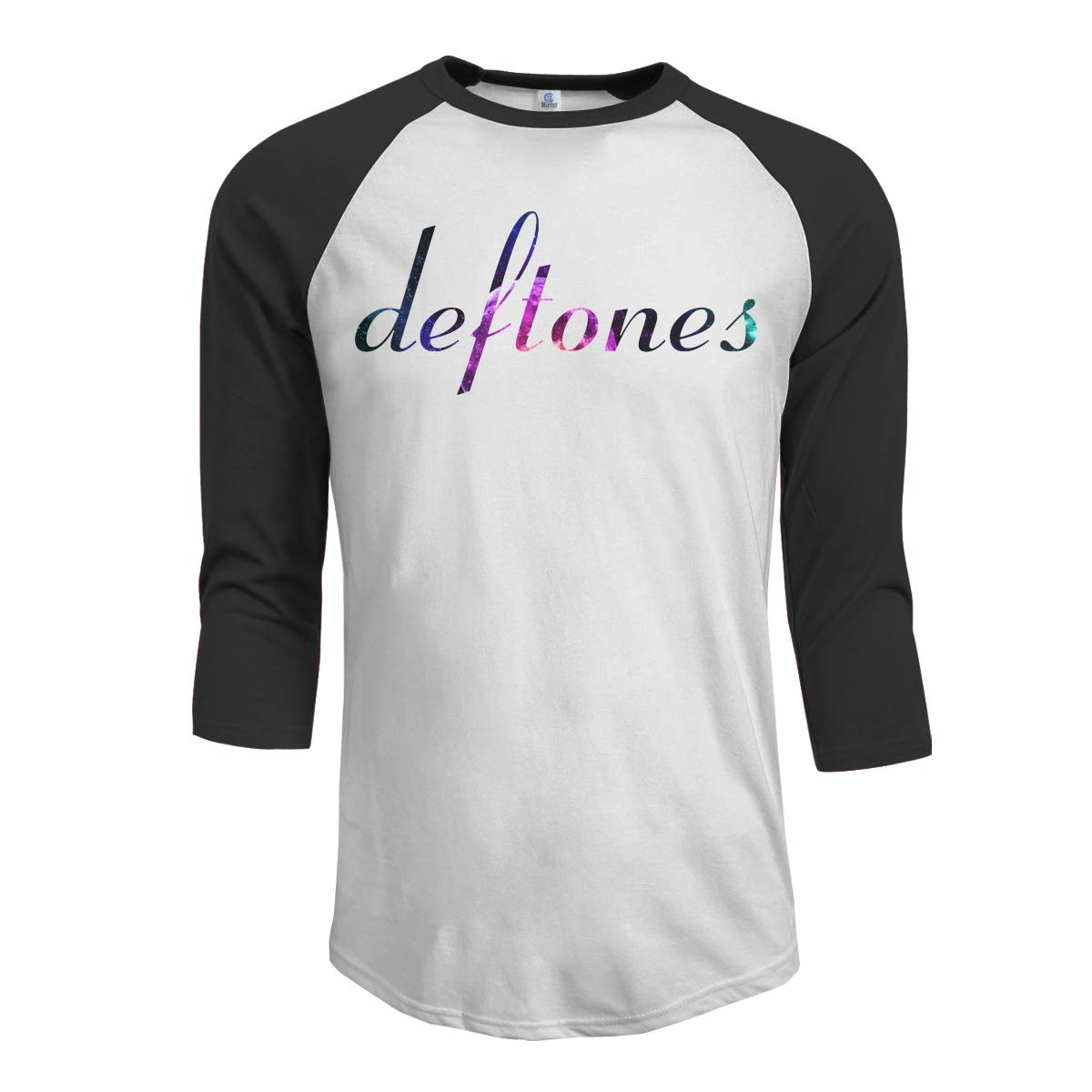JeremiahR Deftones Men's 3/4 Sleeve Raglan Baseball T Shirt Black
