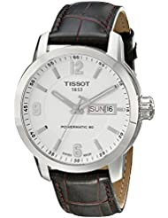 Tissot Mens T0554301601700 PRC 200 Stainless Steel Watch with Brown Leather Strap