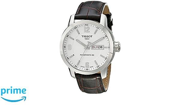 Tissot PRC 200 - Reloj (Reloj de Pulsera, Masculino, Acero Inoxidable, Acero Inoxidable, Cuero, Marrón): Amazon.es: Relojes