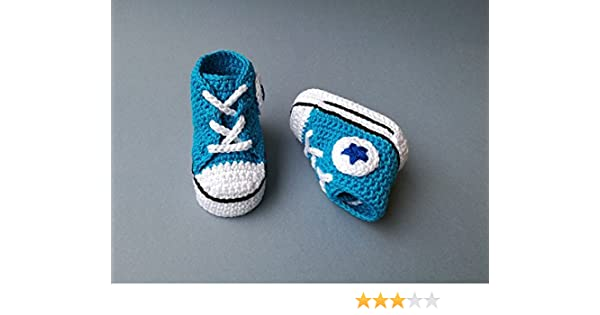 d033f7399f95 Amazon.com  Crochet Pattern baby Converse All star style