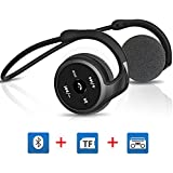 Upgraded Bluetooth 4.1 Headphones, Egrd® 3 in 1 Function Over-Ear Stereo Sports Bluetooth Earphone Headset Earbuds--(Bluetooth,FM Radio,TF Card Playing-32GB)--Wireless Sweatproof Noise Canceling