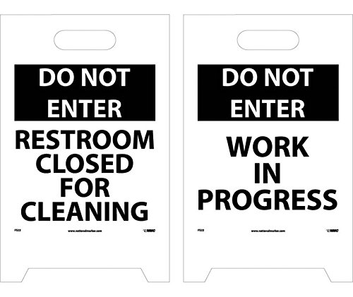 Do Not Enter Work In Progress Double-Sided Floor Sign